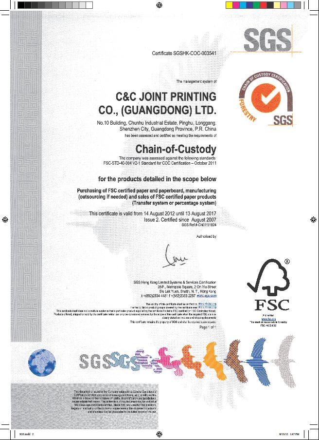 Fscpefc Coc Certificationscc Joint Printing